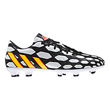 Buy Adidas Predator Instinct FG Battle Pack Men's Football Boots, Black/Orange Online at johnlewis.com
