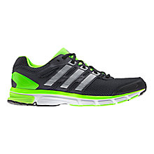 Buy Adidas Nova Stability Men's Running Shoes, Grey/Green Online at johnlewis.com