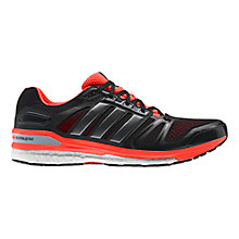 Buy Adidas Supernova Sequence 7 Running Shoes, Black/Red Online at johnlewis.com