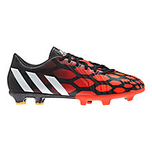 Buy Adidas Predator Absolado Instinct FG Men's Football Boots, Black/White Online at johnlewis.com