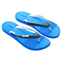 Buy Speedo Saturate II Flip Flops, Blue/Grey Online at johnlewis.com