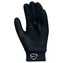 Buy Nike Hyperwarm Football Gloves, Black Online at johnlewis.com