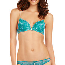 Buy Elle Macpherson Intimates Luminous Star Contour Plunge Bra, Lapis / Plaza Taupe Online at johnlewis.com
