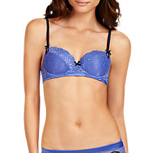 Buy Elle Macpherson Intimates Exotic Plume Contour Bra, Amparo Blue/Black Iris Online at johnlewis.com