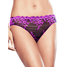Buy Wacoal Embrace Lace Briefs, Coffee Bean / Purple Online at johnlewis.com