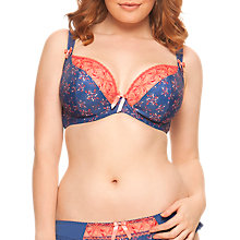 Buy Curvy Kate Firecracker Non Padded Plunge Bra, Night Print Online at johnlewis.com