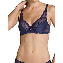 Buy Triumph Amour Spotlight Underwired Bra, Sky Line Online at johnlewis.com