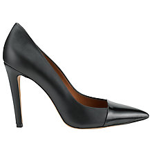Buy Whistles Rae Leather Toe Cap High Point, Black Online at johnlewis.com