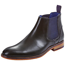 Buy Ted Baker Camroon Leather Chelsea Boots, Black Online at johnlewis.com