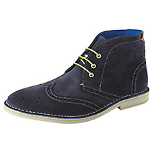 Buy Ted Baker Kiddie Chukka Boots, Dark Blue Online at johnlewis.com