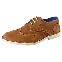 Buy Ted Baker Jamfro Suede Brogues, Tan Online at johnlewis.com