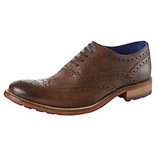Buy Ted Baker Gurri Leather Brogues, Brown Online at johnlewis.com
