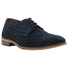 Buy Dune Boston Suede Brogue Shoes, Navy Online at johnlewis.com