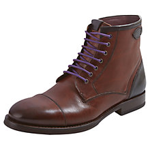 Buy Ted Baker Comptan Toe Cap Lace Up Boots, Brown Online at johnlewis.com