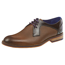 Buy Ted Baker Fussel Leather Derby Shoes, Tan Online at johnlewis.com
