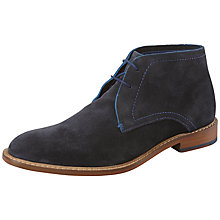 Buy Ted Baker Torsdi Suede Chukka Boots, Dark Blue Online at johnlewis.com