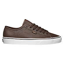 Buy Vans Ferris Leather Trainers, Buck Brown Online at johnlewis.com