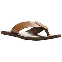 Buy Dune Inka Trail Leather Toe Post Sandals, Tan Online at johnlewis.com