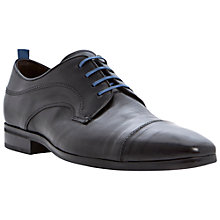 Buy Dune Ransom Leather Toe Cap Shoes, Black Online at johnlewis.com