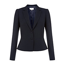 Buy Hobbs Invitation Posey Jacket, Navy Online at johnlewis.com