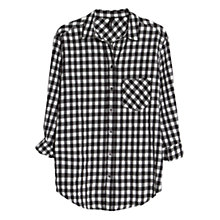 Buy Mango Gingham Check Shirt, Black Online at johnlewis.com