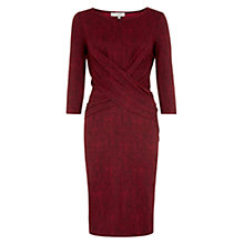 Buy Hobbs Luann Dress, Pillar Box/Navy Online at johnlewis.com