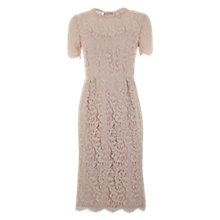 Buy Hobbs Invitation Lace Dress, Pink Mist Online at johnlewis.com