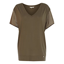 Buy Wishbone Lucia Silk Trim Patch T-shirt Online at johnlewis.com