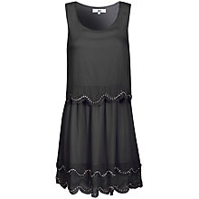Buy True Decadence Scallop Sequin Dress, Black Online at johnlewis.com