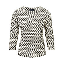 Buy Viyella Petal Textured Top, Buttermilk Online at johnlewis.com