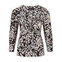 Buy Viyella Shadow Floral Top, Powder Pink Online at johnlewis.com