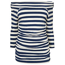 Buy Phase Eight Stripe Bernie Bardot Top, Navy/Ivory Online at johnlewis.com