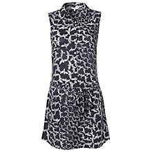 Buy White Stuff Geo Bird Tunic Dress, Dark Moonlight Online at johnlewis.com
