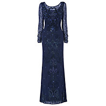 Buy Phase Eight Collection 8 Versaille Full Length Beaded Dress, Sapphire Online at johnlewis.com