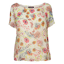 Buy Phase Eight Ezra Silk Floral Blouse, Ivory/Gerbera Online at johnlewis.com
