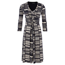 Buy Viyella Block Print Jersey Dress, Navy Online at johnlewis.com
