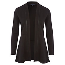 Buy Viyella PU Trim Jersey Cardigan, Black Online at johnlewis.com