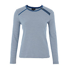 Buy Viyella Zip Detail Striped Jersey Top, Ivory Online at johnlewis.com