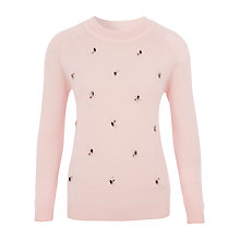 Buy Viyella Embellished Jumper, Powder Pink Online at johnlewis.com