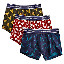 Buy Joules Christmas Trunks, Pack of 3, Multi Online at johnlewis.com