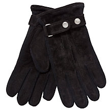 Buy Gant Suede Gloves, Black Online at johnlewis.com