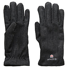 Buy Gant Melton Gloves, Grey Online at johnlewis.com