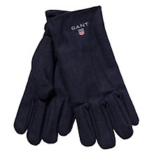 Buy Gant Wool Blend Melton Gloves, Navy Online at johnlewis.com