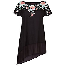 Buy Phase Eight Malena Embroidered Tunic Top, Black/Multi Online at johnlewis.com