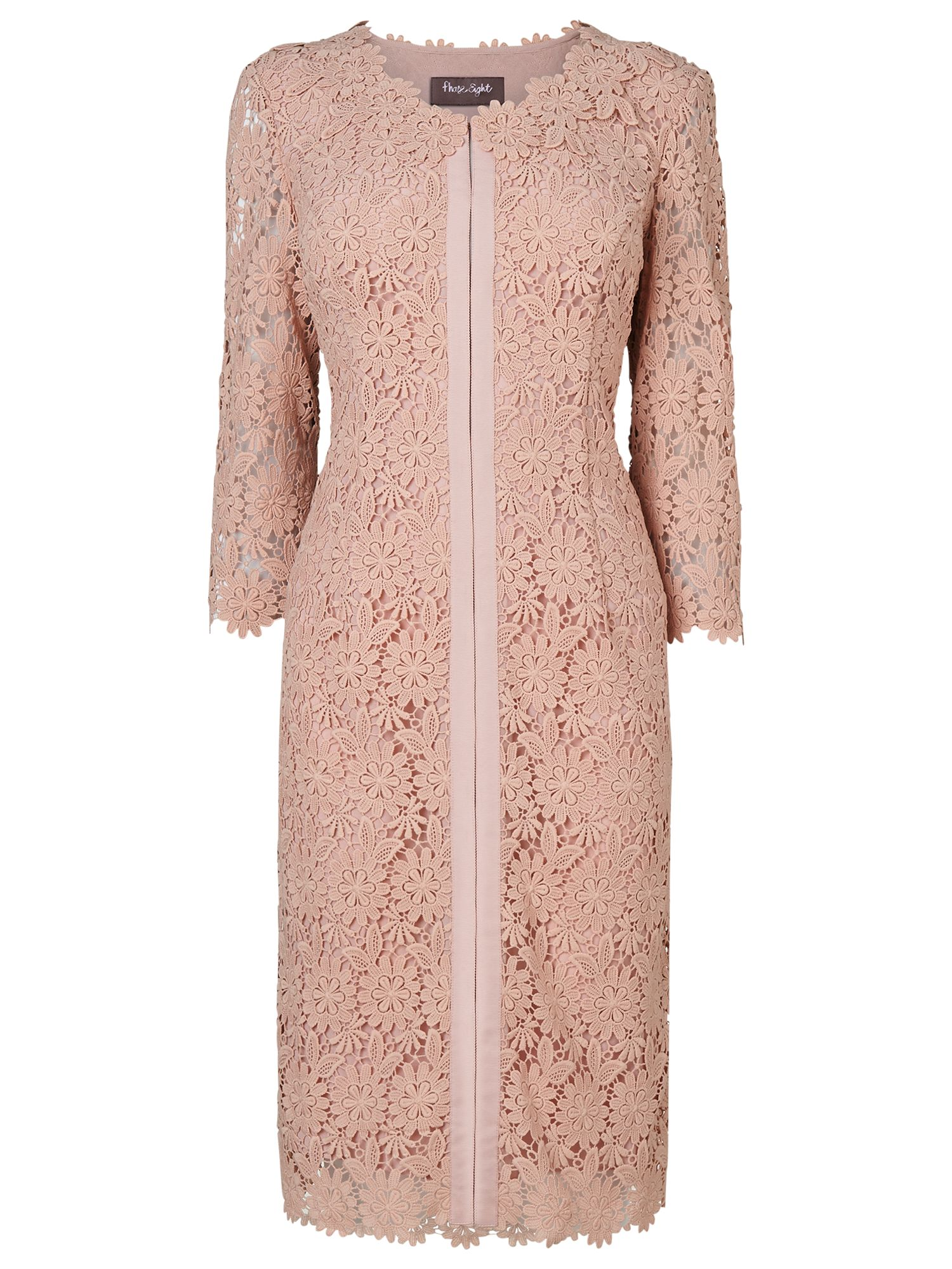 Phase Eight Yves Lace Jacket, Petal