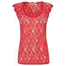 Buy Oasis Lace Scoop Neck T-Shirt Online at johnlewis.com
