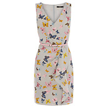 Buy Oasis Butterfly Drape Print Dress, Multi/Grey Online at johnlewis.com