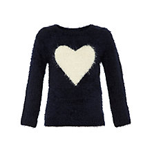Buy Yumi Girl Heart Jumper, Navy Online at johnlewis.com