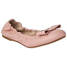Buy L.K. Bennett Flat Ballerina Leather Pumps, Ballerina Pink Online at johnlewis.com
