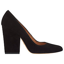 Buy Whistles Adina Block Heel High Point Pump, Black Online at johnlewis.com
